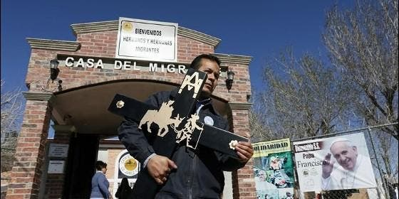 La casa del migrante de ciudad ju rez un pedacito de for Mural de la casa del migrante