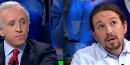 Eduardo Inda y Pablo Iglesias.