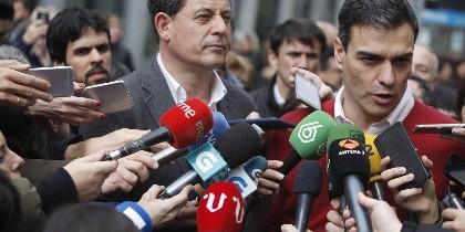 Gómez Besteiro con Pedro Sánchez.