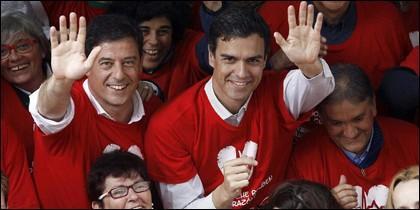Gómez Besteiro y Pedro Sánchez.