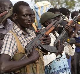 Milicianos en Sudán.