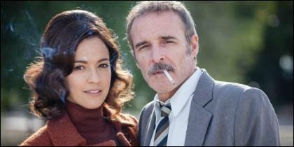 Verónica Sánchez y Fernando Guillén Cuervo en 'El Caso' (TVE).