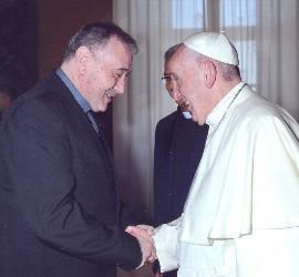 Luis Ángel de las Heras, con el Papa Francisco