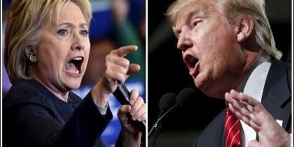 Hillary Clinton frente a Donald Trump.