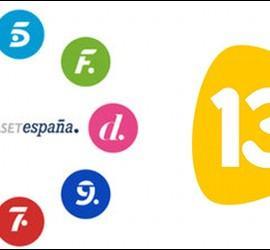 Logos de Mediaset y 13TV.