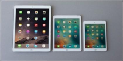 iPad Pro, los tres tamaños que ofrece Apple.