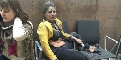 Dos heridas en el aeropuerto de Bruselas