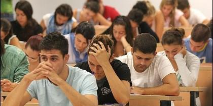 Estudiante, examen, clase, facultad, Universidad.