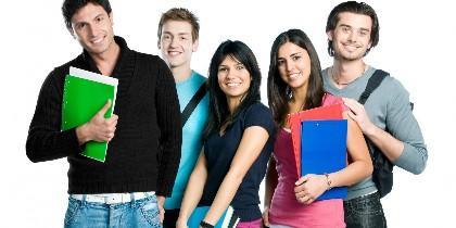 Estudiante, universidad, clase, examen, título.