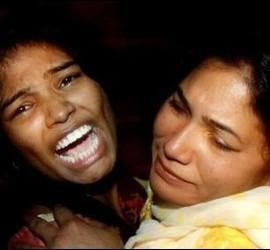 Victimas cristianas del atentado islamista de Lahore, Pakistán.