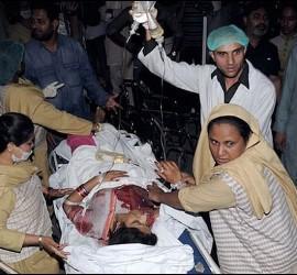 Víctima del atentado de Lahore