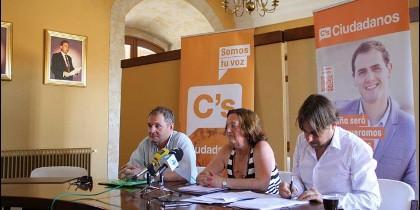 Agustina Martín en un acto de Ciudadanos