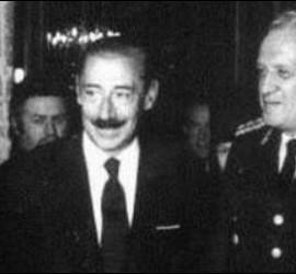Pío Laghi, con Videla y la cúpula de la dictadura militar argentina