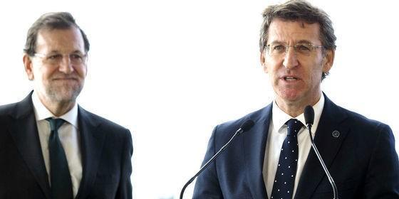 Mariano Rajoy (PP) y Alberto Núñez Feijóo, presidente de Galicia.