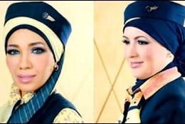 Azafatas de EgyptAir con velo