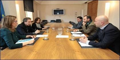 Reunión mantenida entre el Consejero y la Presidenta de la Diputación de Palencia