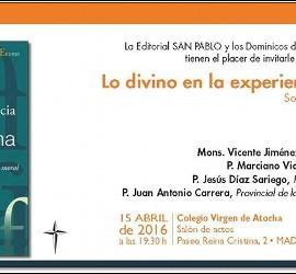 Invitación a la presentación del libro de Jesús Espeja