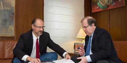 Juan Vicente Herrera con Luis Fuentes