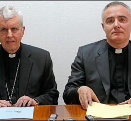 El obispo de Tui, y el comisario episcopal designado por Omella