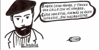 Viñeta de Cirizo sobre Sabino Arana.