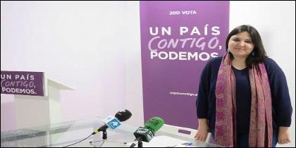 Estefania Rodero, la ex secretaria general de Podemos en Salamanca.