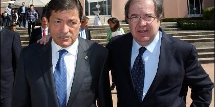 Juan Vicente Herrera con Javier Fernández