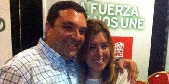 Antonio Cerrillo con Susana Díaz (PSOE).