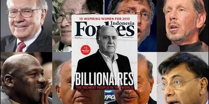 Los hombres más ricos del mundo, según la lista Forbes.