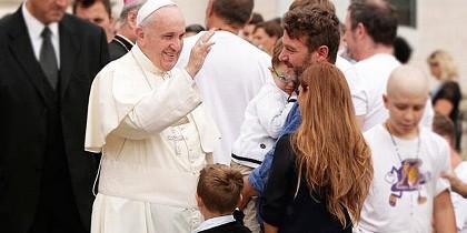 El Papa y las familias