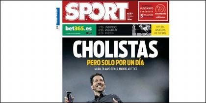 Portada del diario Sport del 5 de mayo de 2016.