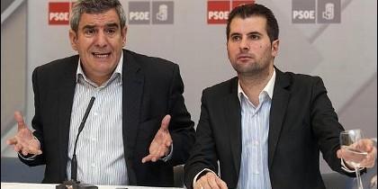 Villarrubia y Tudanca, rivales en las primarias socialistas en Castilla y León