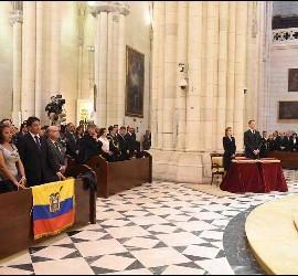 Funeral por las víctimas del terremoto de Ecuador en Madrid