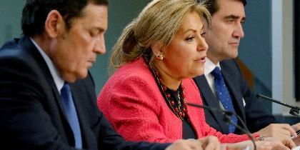 La Vicepresidenta de la Junta, Rosa Valdeón anunciando las nuevas inversiones