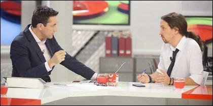 Javier Ruiz y Pablo Iglesias.