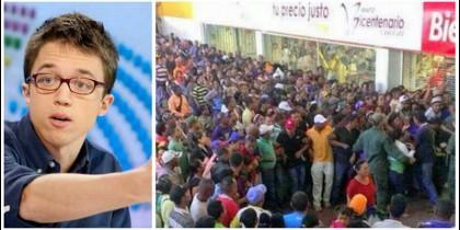 Íñigo Errejón y las colas en un supermercado de Caracas.