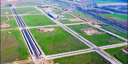 Polígono industrial  en construcción en Castilla y León