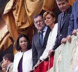 Rajoy, junto a Cospedal, en un balcón de Zocodover
