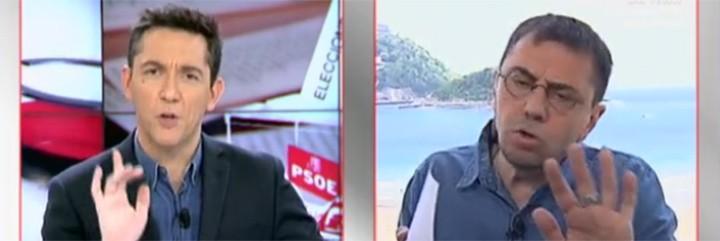 Javier Ruiz y Juan Carlos Monedero.