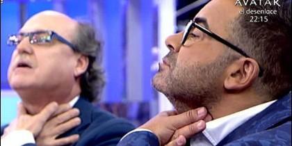 Jorge Javier Vázquez y la publicidad encuebierta en 'Sálvame' de Telecinco.