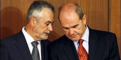 Griñan con Chaves (PSOE).