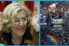 Manuela Carmena y el desfile del Orgullo Gay.