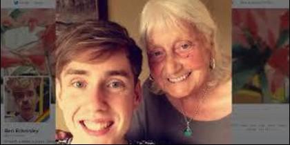 May Ashworth y su nieto Ben.