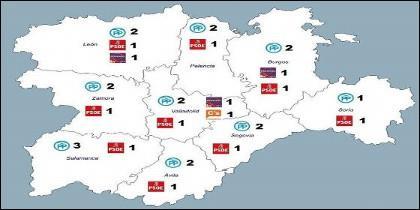 Mapa político arrojado por las elecciones celebradas el 26J