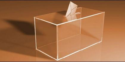 Una urna vacía, tras las elecciones