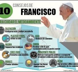 Consejos del Papa para el medio ambiente
