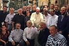El papa, entre jesuitas en La Habana