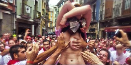 Manoseo, agresiones sexuales, fiesta, juerga, borrachera en San Fermín.