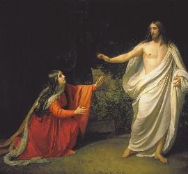 María Magdalena, con Jesús resucitado