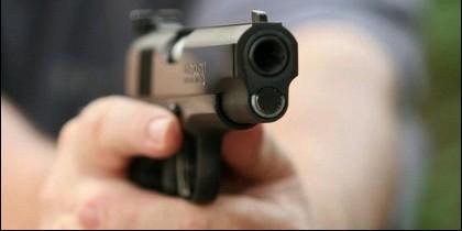 Atentado, ataque, pistola, criminal, terrorista.