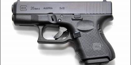 La pistola Glock de 9 milímetros.